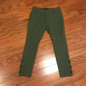 NWT Banana Republic Army Green Crop Pants